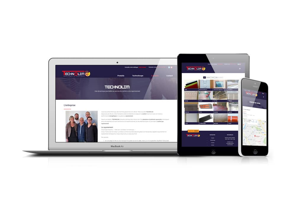Site web professionnel technolim