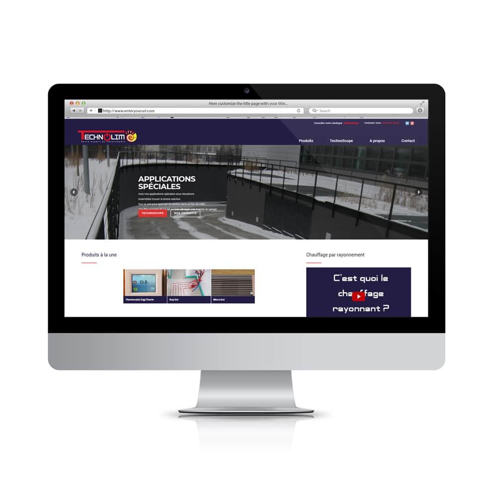 Création de site web technolim